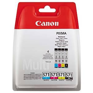 Tintenpatrone Canon CLI-571, Multipack, Packung à 4 Stück