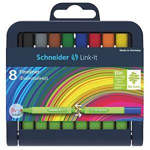 Schneider Link IT szett, 8 db Fineliner