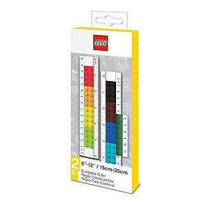 Pravítko Lego 2v1 - 30 cm a 15 cm