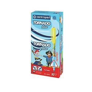 CENTROPEN 2675/10 TORNADO BLUE PEN ASST