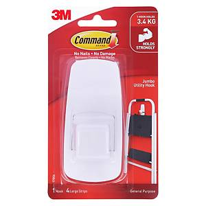 3M 17004 Command Jumbo Utility Hook (Holds Up to 3.4kg)