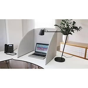 Skærmvæg StandUp bord, 80 x 55 x 5 cm, grå/grå