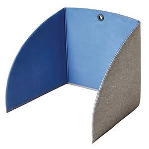 Skærmvæg StandUp bord, 80 x 55 x 5 cm, blå/grå