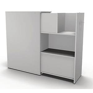 MAXI TOWER BOOKCASE 3R D80CM DOUBLE WH