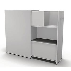 MAXI TOWER BOOKCASE 3R D90CM DOUBLE WH