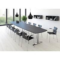 Konferencebord Square, 110/90 x 200 cm, antracit/aluminium