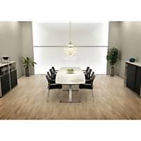 Konferencebord Square, 110/90 x 320 cm, hvid/aluminium