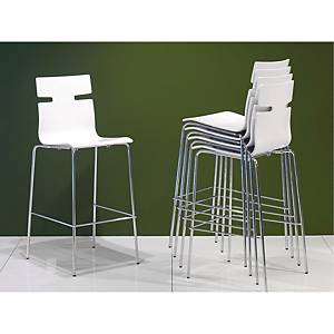 WHISPER H/CHAIR W/FOOTREST H75/110CM WH