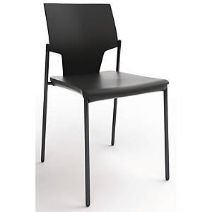 Konferencestol Fumac Aktiva, højde 46/78 cm, sort