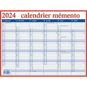Aurora Mementokalender, Franstalig, 42 x 33 cm