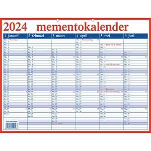 Aurora Mementokalender, Nederlandstalig, 42 x 33 cm