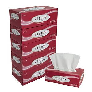 Virjoy Super Soft Facial Box Tissue - Pack of 5 boxes