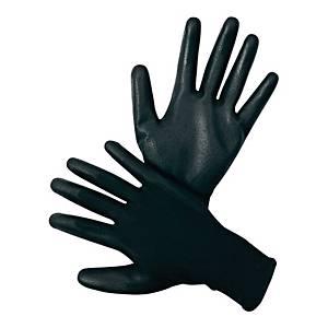 Rękawice poliestrowe FF HS-04-003 PE/PU, czarne, rozmiar 11, para