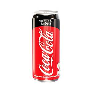 COKE ZERO CARBONATED DRINK 325 MILLILITRES PACK OF 24