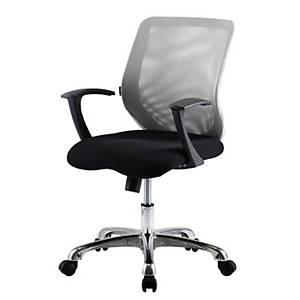 ZINGULAR เก้าอี้สำนักงาน CHRISTINA ขาดำ สีเทาดำ