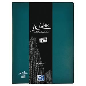 Porte vues Oxford Le Lutin Urban - PVC opaque - 40 pochettes - bleu pétrole