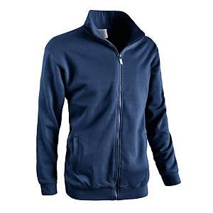 Felpa zip totale blu navy tg XL