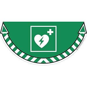 Gulvmærkat CEP Industries, defibrillator, grøn