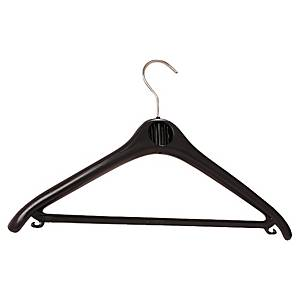 Plastic Black Coat Hangers - Box of 20