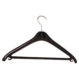 Plastic Black Coat Hangers - Box of 20
