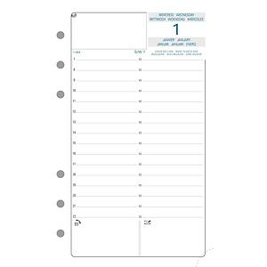 Vulling voor Exatime 17 organizer, 1 dag per pagina, verticaal