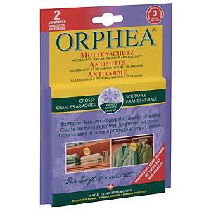Mottenschutz Orphea 43995, mit Lavendelduft, Packung à 2 Hänger