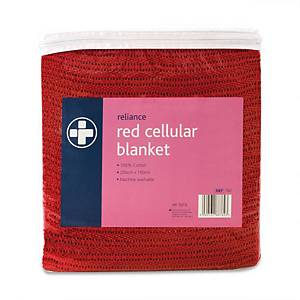 Cellular Blanket Red