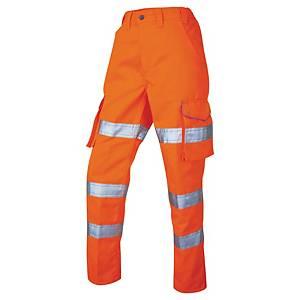 Leo CL01-O Hi-Vis Cargo Trouser 14 Orge