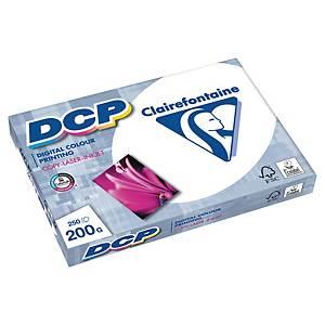 DCP Clairefontaine Papier, A4, 200g/m², weiß, 250 Blatt/Packung