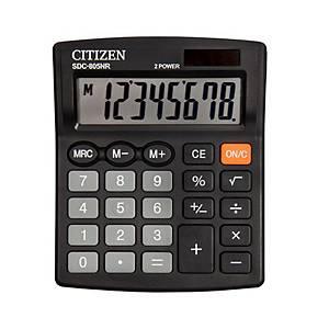 CITIZEN SDC805NR asztali számológép, fekete, 8 számjegy