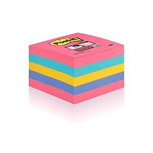 Cubo de 440 notas adhesivas Post-it Super Sticky - varios colores - 76x76mm