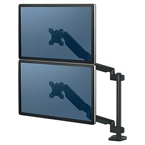 Bras support écran Fellowes Platinum Series vertical - à pince - 2 écrans