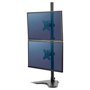 Brazo sobre pie para monitor dual vertical Fellowes Platinum Series