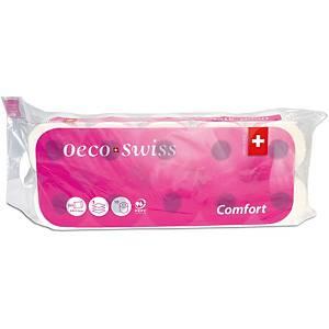 Toilettenpapier Oeco Swiss Comfort TAE, 3-lagig, 10 Rollen à 250 Blatt