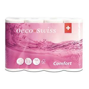 Küchenrolle Oeco Swiss Comfort 318 8510, 3-lagig, 4 Rollen à 51 Blatt