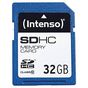 Carte mémoire Intenso SDHC, classe de vitesse d écriture 10, 32 Go