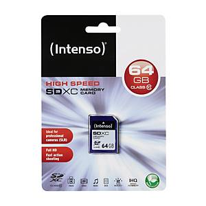 SDXC Speicherkarte Intenso, Class 10, 64 GB