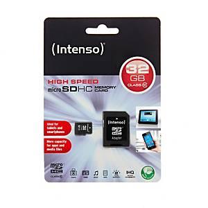 MicroSDHC Speicherkarte Intenso, Class 10, 32 GB