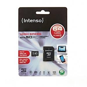 Hukommelseskort Intenso Micro SDHC, 64 GB