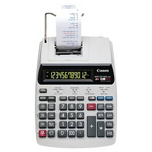 Calculatrice imprimante Canon MP120-MG-ES - 12 chiffres - grise