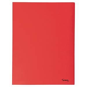 Lyreco map, 3 kleppen, A4, karton 280 g, rood, per 50 mappen