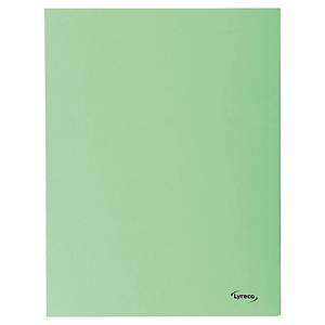 Lyreco 3-flap folders A4 cardboard 280g green - pack of 50