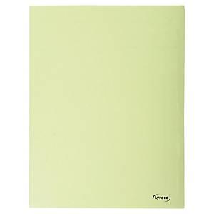 Lyreco 3-kleppenmappen A4 karton 280g geel - pak van 50