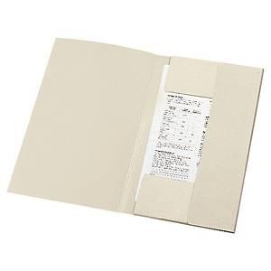 Klapmappe Lyreco, 3-klap, manilla, A4, grå, pakke a 50 stk.