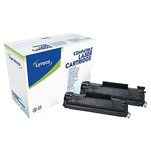 Lyreco Compatible HP Laserjet P1505 (36A) Twin Pack