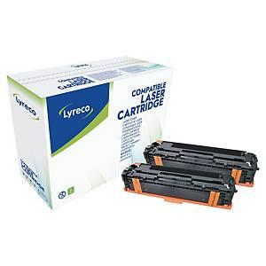 Lyreco HP CE320AD laservärikasetti musta, 1 kpl=2 kasettia