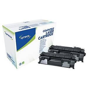 Lyreco HP CE505D laservärikasetti musta, 1 kpl=2 kasettia