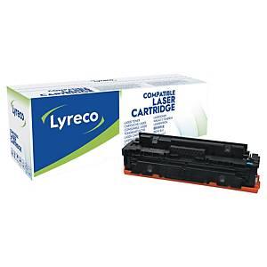 Lyreco compatibele HP 410X (CF411X) toner cartridge, cyaan, hoge capaciteit