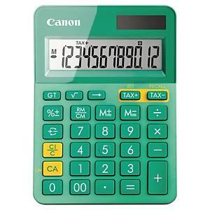 Tischrechner Canon LS-123K, 12stellig, Solar-/Batteriebetrieb, türkis
