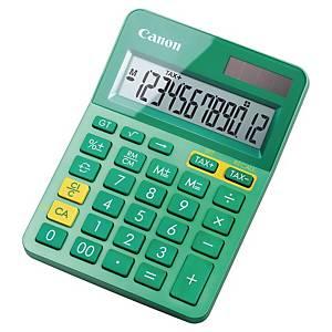 Calculatrice de bureau Canon LS-123K - 12 chiffres - métal/vert